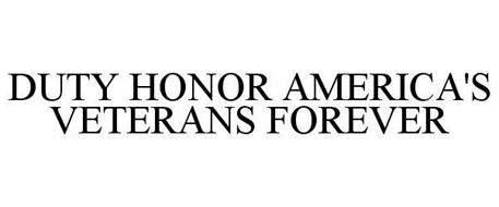 DUTY HONOR AMERICA'S VETERANS FOREVER