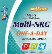 MEN'S ENERGY MULTIVITAMIN MULTI-NRG ONE-A-DAY ADVANCED FORMULA IMMUNITY BOOSTER ANTI-OXIDANT ANTI-FATIGUE FROM A COMPLETE TO ZN+ 30+15 FREE