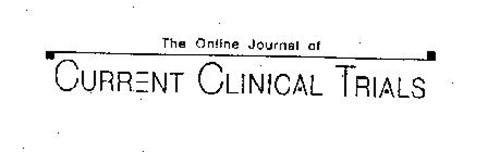 THE ONLINE JOURNAL OF CURRENT CLINICAL TRIALS