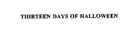 THIRTEEN DAYS OF HALLOWEEN