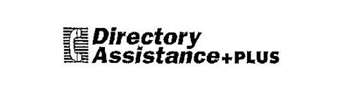 DIRECTORY ASSISTANCE + PLUS