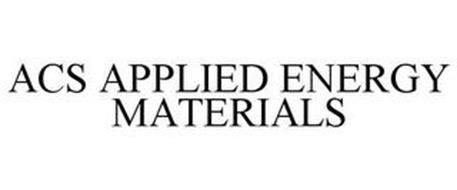 ACS APPLIED ENERGY MATERIALS