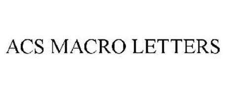 ACS MACRO LETTERS