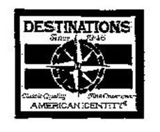 DESTINATIONS SINCE 1946 AMERICAN IDENTITY CLASSIC QUALITY FINE OUTERWEAR