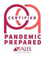 PP CERTIFIED PANDEMIC PREPARED AIB. INTERNATIONAL