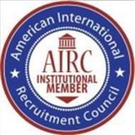 AMERICAN INTERNATIONAL RECRUITMENT COUNCIL AIRC INSTITUTIONAL MEMBER