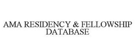 AMA RESIDENCY & FELLOWSHIP DATABASE