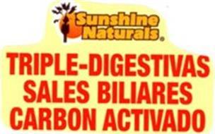 TRIPLE-DIGESTIVAS SALES BILIARES CARBON ACTIVADO SUNSHINE NATURALS