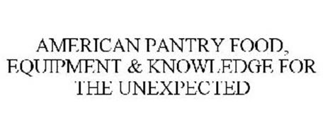 AMERICAN PANTRY FOOD, EQUIPMENT & KNOWLEDGE FOR THE UNEXPECTED