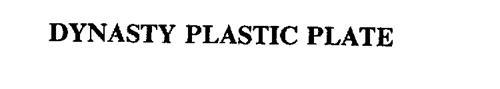 DYNASTY PLASTIC PLATE
