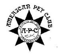AMERICAN PET CLUB CORPORATION A-P-C AMERICAN PET CLUB