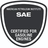 AMERICAN PETROLEUM INSTITUTE SAE CERTIFIED FOR GASOLINE ENGINES
