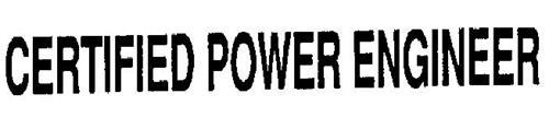 CERTIFIED POWER ENGINEER