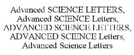 ADVANCED SCIENCE LETTERS, ADVANCED SCIENCE LETTERS, ADVANCED SCIENCE LETTERS, ADVANCED SCIENCE LETTERS, ADVANCED SCIENCE LETTERS
