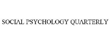 SOCIAL PSYCHOLOGY QUARTERLY