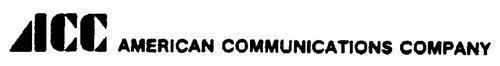 AMERICAN COMMUNICATIONS COMPANY