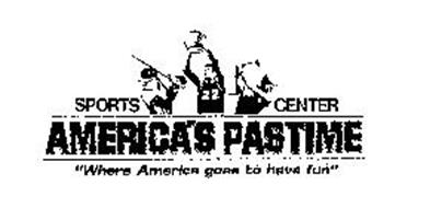 """SPORTS CENTER AMERICA'S PASTIME """"WHERE AMERICA GOES TO HAVE FUN"""""""
