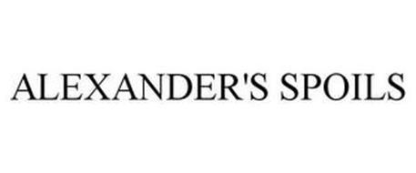 ALEXANDER'S SPOILS