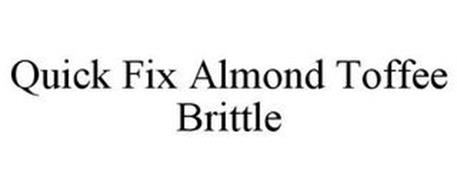 QUICK FIX ALMOND TOFFEE BRITTLE