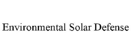 ENVIRONMENTAL SOLAR DEFENSE