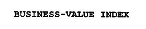 BUSINESS-VALUE INDEX