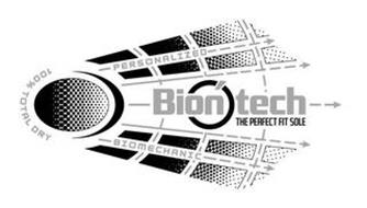 100% TOTAL DRY PERSONALIZED BIONTECH THE PERFECT FIT SOLE BIOMECHANIC