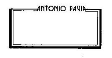 ANTONIO PAVIA