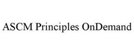 ASCM PRINCIPLES ONDEMAND