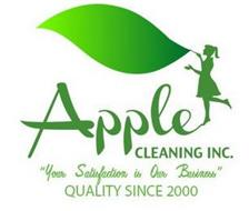 """APPLE CLEANING INC. """"YOUR SATISFACTIONIS OUR BUSINESS"""" QUALITY SINCE 2000"""