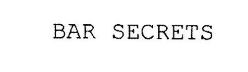 BAR SECRETS