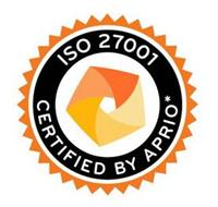 ISO 27001 CERTIFIED BY APRIO*