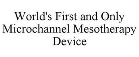 WORLD'S FIRST AND ONLY MICROCHANNEL MESOTHERAPY DEVICE