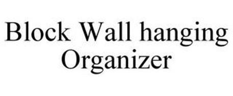 BLOCK WALL HANGING ORGANIZER