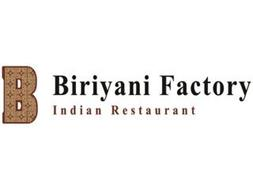 B BIRIYANI FACTORY INDIAN RESTAURANT