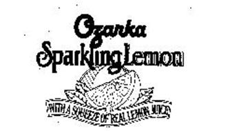 OZARKA SPARKLING LEMON WITH A SQUEEZE OF REAL LEMON JUICE