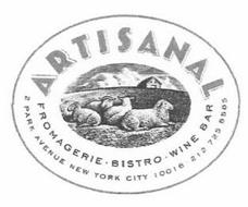 ARTISANAL FROMAGERIE ·  BISTRO ·  WINE BAR 2 PARK AVENUE NEW YORK CITY 10016 · 212 725  8585
