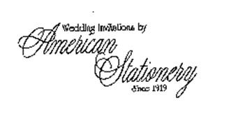 WEDDING INVITATIONS BY AMERICAN STATIONERY SINCE 1919