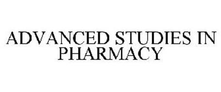 ADVANCED STUDIES IN PHARMACY