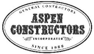 ASPEN CONSTRUCTORS INCORPORATED GENERAL CONTRACTORS SINCE 1988