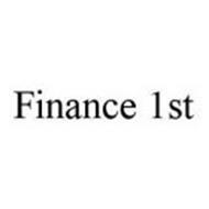 FINANCE 1ST