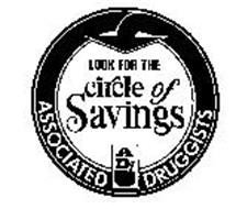 LOOK FOR THE CIRCLE OF SAVINGS AD ASSOCIATED DRUGGISTS