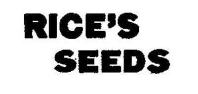 RICE'S SEEDS