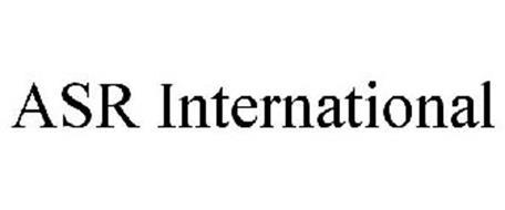 ASR INTERNATIONAL