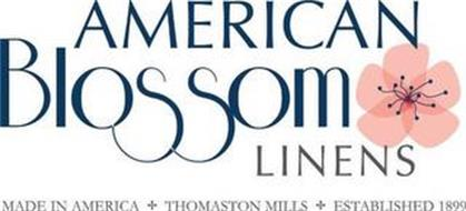 AMERICAN BLOSSOM LINENS MADE IN AMERICATHOMASTON MILLS ESTABLISHED 1899