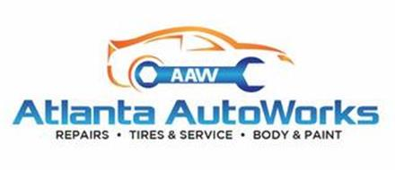 AAW ATLANTA AUTOWORKS REPAIRS · TIRES & SERVICE · BODY & PAINT