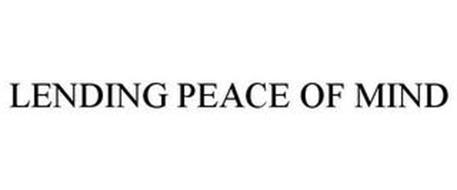 LENDING PEACE OF MIND