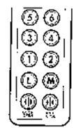 DOOR OPEN DOOR CLOSE L M 1 2 3 4 5 6