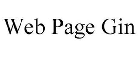 WEB PAGE GIN