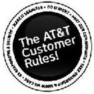 THE AT&T CUSTOMER RULES! BE RESPONSIVE AND DELIVER MEET OUR COMMITMENTS MAKE IT SEAMLESS DO IT RIGHT TAKE OWNERSHIP-SHOW WE CARE