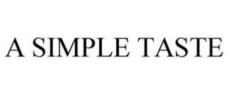 A SIMPLE TASTE
